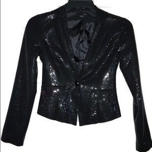 5/$25 Black sequin blazer